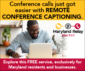 MD Relay Ad for Remote Conference Captioning